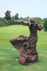 Saylín vs Mary Poppins 71 x 38 x 71 in Copper welding & embossing