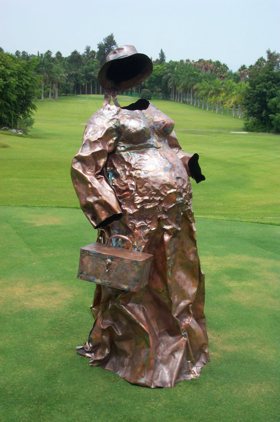 The goddess 61 x 35 x 31 in Copper sheet welding & embossing