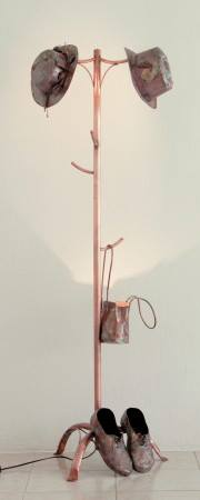 Hanger. welded and embossed copper sheets