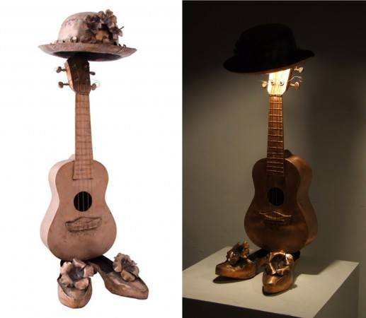 Ukelele Rhapsody welded and embossed copper sheets